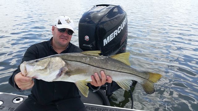 client with huge snook